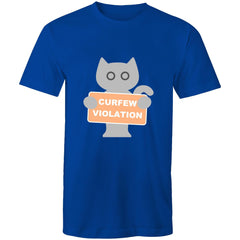 Mens T-Shirt - Cat Curfew