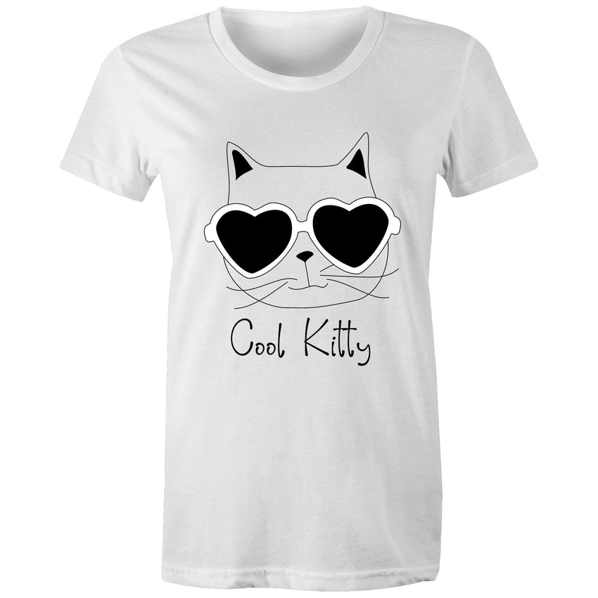 Womens loose T-shirt - Cool kitty