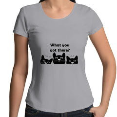 Womens Scoop Neck T-Shirt - What you got there