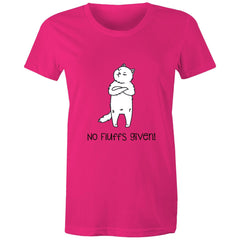 Womens standard T-shirt - No Fluffs Given
