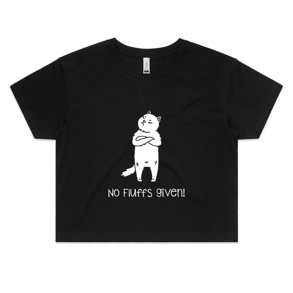 Womens Crop Tee - No Fluffs Given