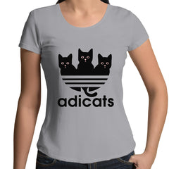 Womens Scoop Neck T-Shirt - Addicats