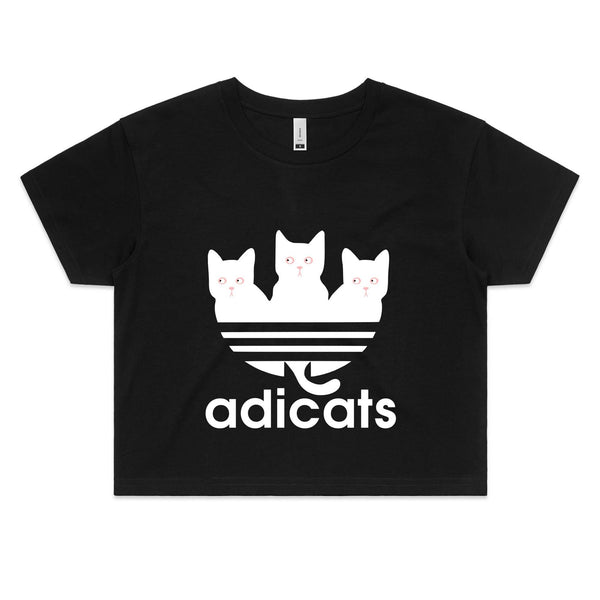 Womens Crop Tee - Addicats