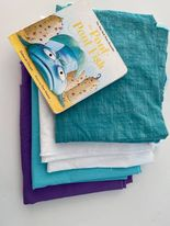 pout pout fish book with matching colored fabric