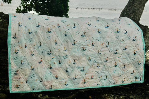 mermaid fabric for back of baby girl quilt