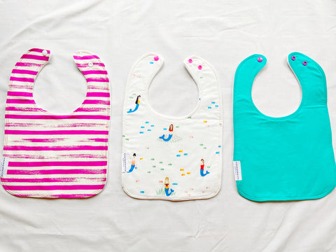 mermaid baby bibs