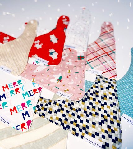 holiday baby bandana bibs