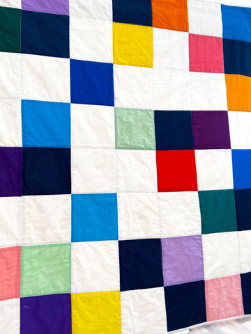 quilt based on Ellsworth Kelly painting
