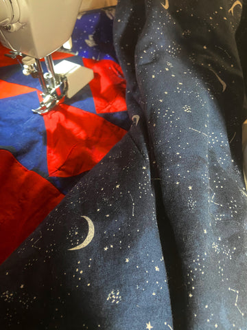 space quilt fabric