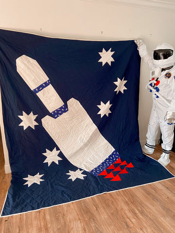 kid's space quilt