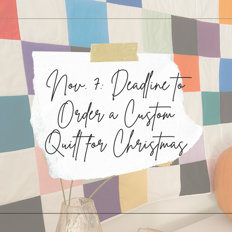 christmas order by deadline for a custom quilt image