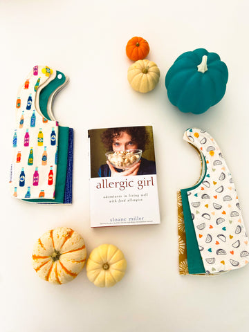 teal baby bib sets shown to raise food allergy awareness