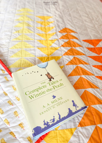winnie the pooh book on baby quilt
