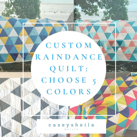 custom equilateral triangle quilt requires choosing 5 different colors
