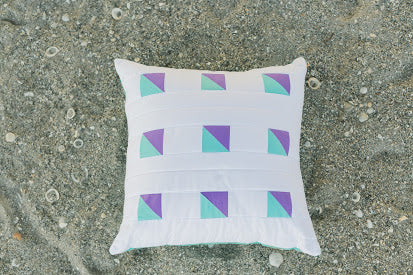 Happyish Quilted Pillow Cover