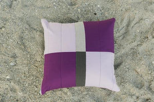 Moody Purples Quilted Pillow Cover