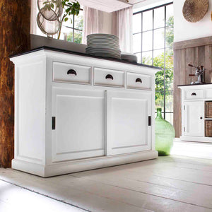 Halifax Contrast Buffet with Sliding Doors