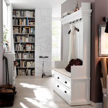 Load image into Gallery viewer, NovaSolo Halifax Entryway Coat Rack & Bench Unit + drawers (excluding cushion)