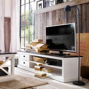 Halifax Contrast Entertainment Unit -Large with 2 drawers