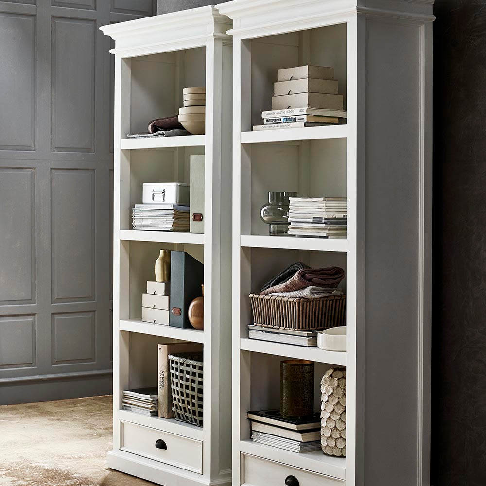 NovaSolo Halifax Bookcase with 1 Drawer