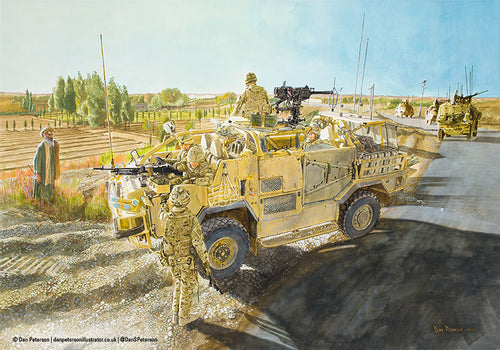 B Squadron, QDG, Gareshk, Herrick 15 (Afghanistan 2011) - Signed Limited Edition - 57 x 41cm