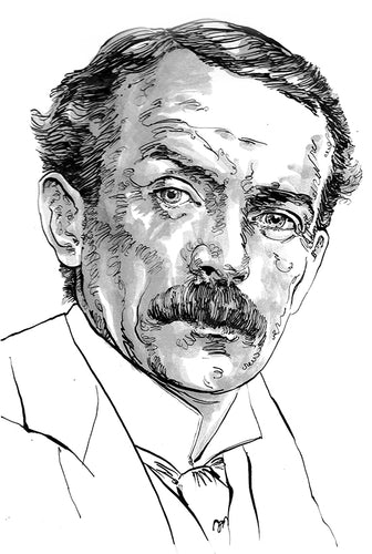 David Lloyd George 1908- Portrait - 30 x 42cm (A3)