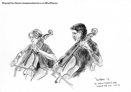 BBC National Orchestra of Wales - Cellos 46x34cm