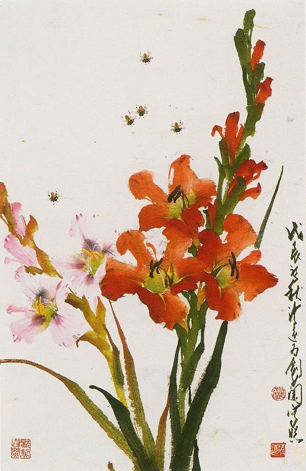 Cymbidium Orchid Painting Featured in To Paint in Ling-nan-Style (1) Theories, Flowers, Vegetables
