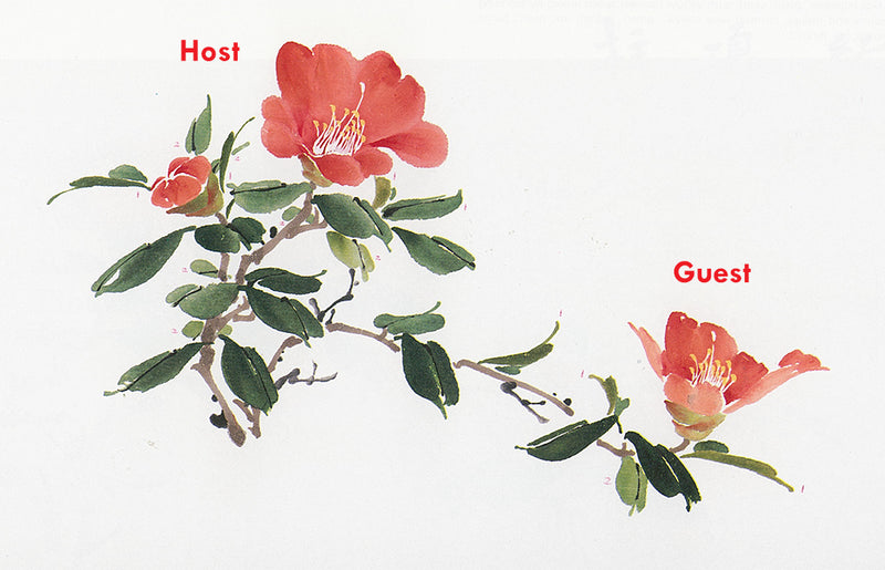 Camellia from Chinese Brush Painting an Instructional Guide Showing Host and Guest