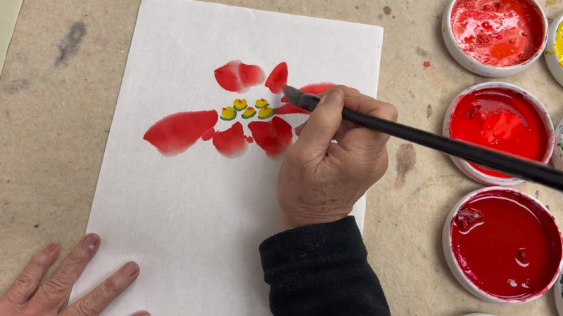 Free Calligraphy Demonstration Kaizen and Poinsettia Videos