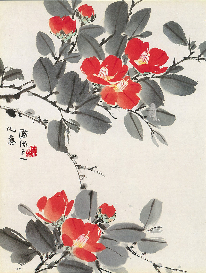 Tea Flower from Flowers of the Four Seasons Vol. 4: Winter by Su-sing Chow
