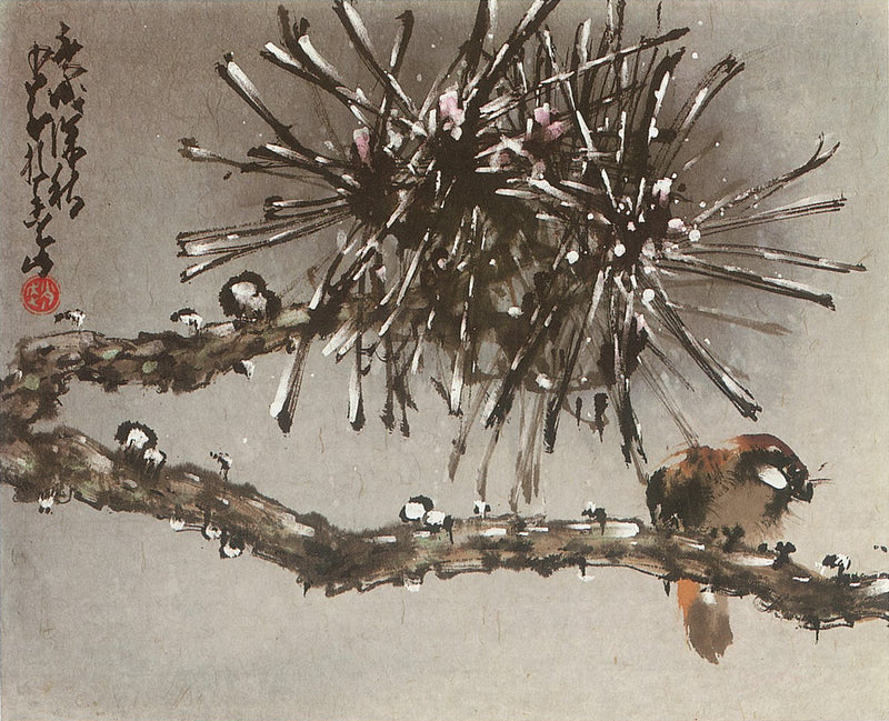 Bird in Snow Painting by Chao Shao-an