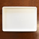 White Plastic Tray for Marbling