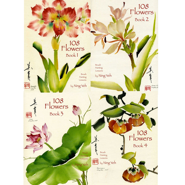 Set of 4 Books - 108 Flowers