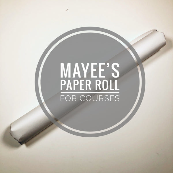 Assorted Paper Roll for Mayee Futterman's Chinese Brush Painting Courses