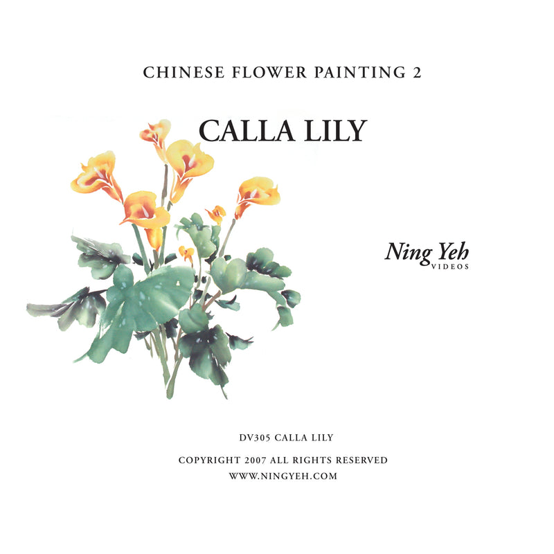 Chinese Flower Painting 2: Calla Lily Video