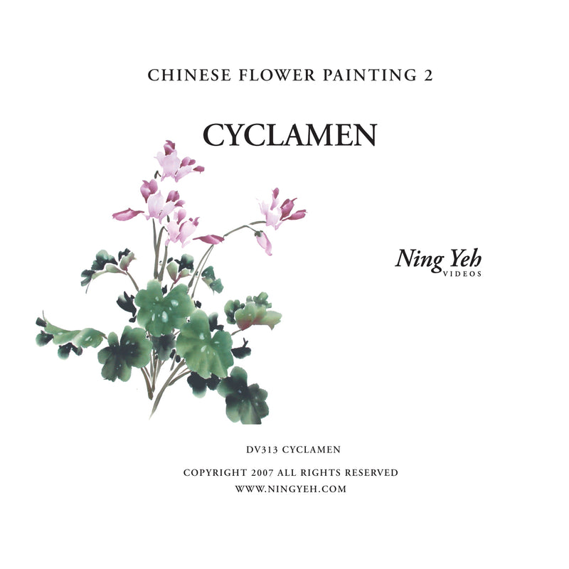 Chinese Flower Painting 2: Cyclamen Video