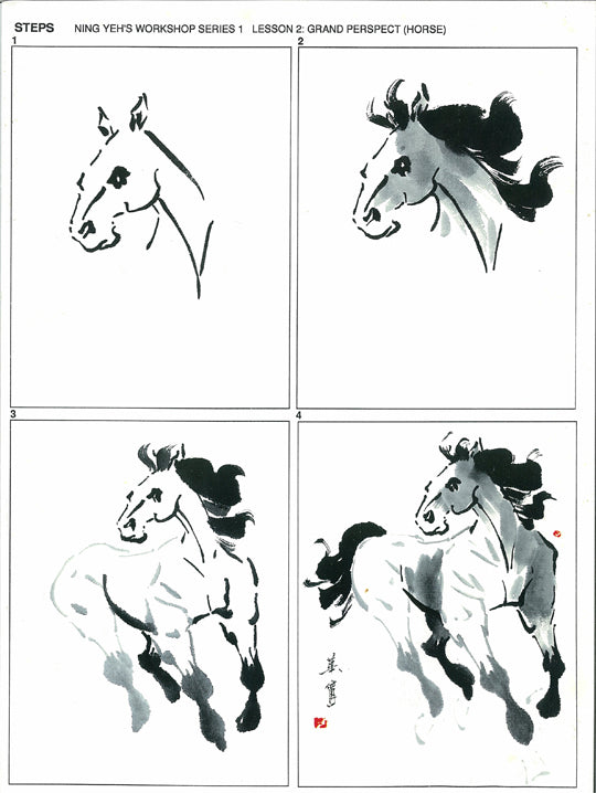 Workshop Series Instructional Booklets by Ning Yeh: Horse