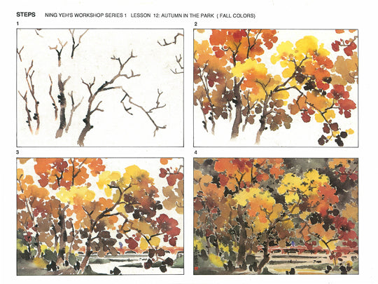 Workshop Series Instructional Booklets by Ning Yeh: Fall Colors