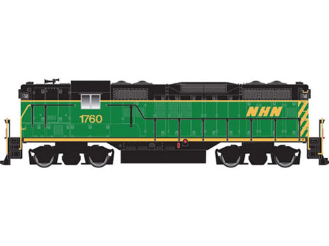 N 	EMD GP9 w/Dynamic Brakes - Standard DC -- New Hampshire Northcoast #1760 (green, black, yellow)