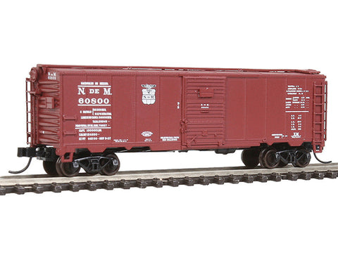 N Master(TM) 1932 ARA Boxcar - Ready to Run -- Nacionales de Mexico N de M #60800 (Boxcar Red)