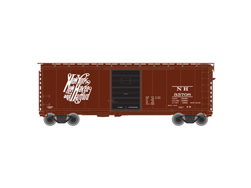150-50001156 N Pullman-Standard PS-1 40' Boxcar w/7' Door - Ready to Run -- New Haven #33708 (Boxcar Red, Script NYNH&H Logo)