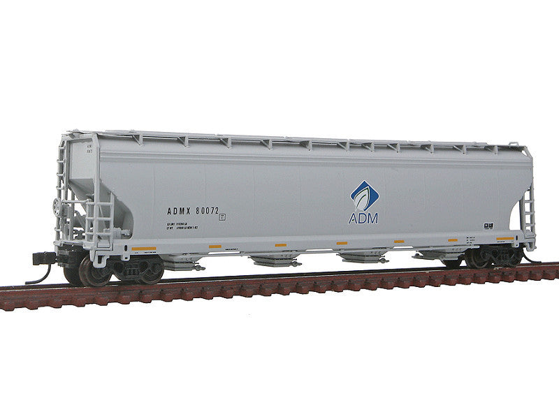 150-50001476 N ACF 5701 Centerflow Grain Hopper - Ready to Run - Master(R) -- Archer-Daniels-Midland ADMX #80072 (gray, blue, green, Leaf Logo 4th Panel)
