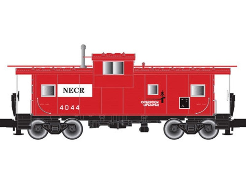 150-50002031 N Extended-Vision Caboose No Roofwalk - Ready to Run -- New England Central #4044 (red, white, Operation Lifesaver Logo)