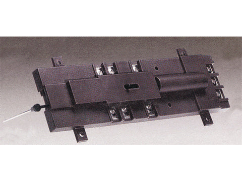 HO Track Accessories for HO/N Scale Switches -- Deluxe Under Table Switch Machine (black)