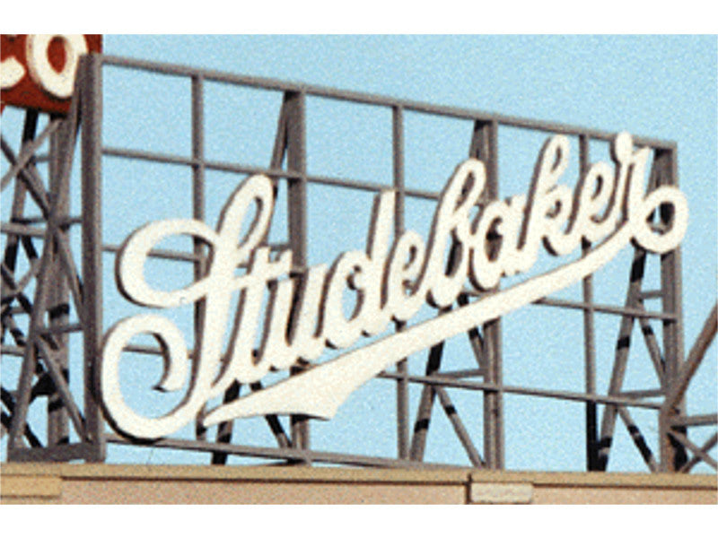 "184-1513 A Laser-Cut Wood Billboards - Small for Z, N & HO -- Studebaker 2.5"" Wide x 1.35"" Tall"