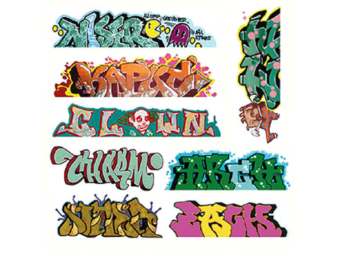 HO Graffiti Decals Mega Set -- #5 pkg(8)