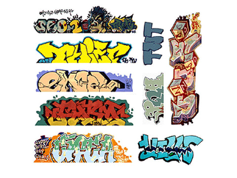 HO Graffiti Decals Mega Set -- #6 pkg(9)