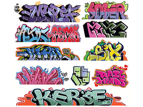 HO Graffiti Decals Mega Set -- #8 pkg(11)