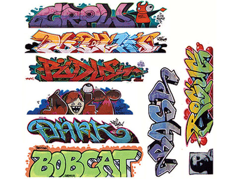 HO Graffiti Decals Mega Set -- #9 pkg(9)